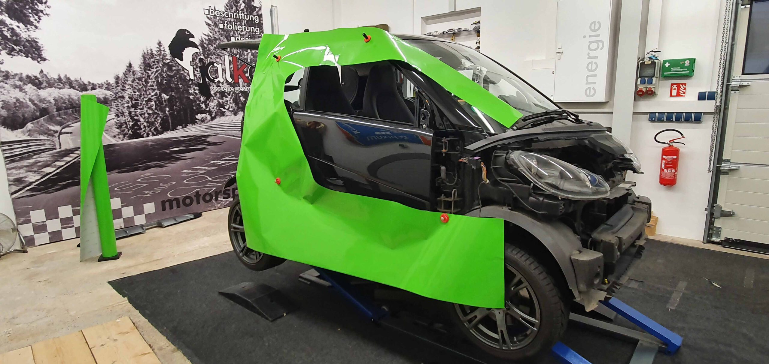 2 Vollfolierung Avery Carwrappingfolie